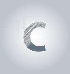 Letter c logo alphabet logotype architectural vector