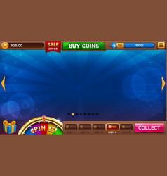 Lobelements for slots games vector