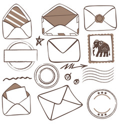 mailing icons vector image