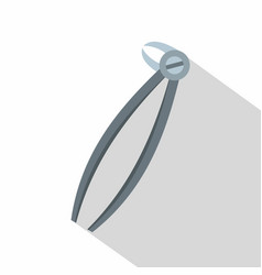 Mandibular wisdom tooth dentist forceps icon vector