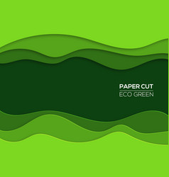 modern 3d paper cut art template with curve shapes vector image