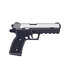 Modern pistol handgun isolated on white vector