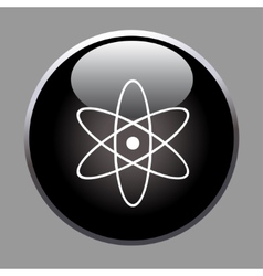 Molecule icon on black button vector image
