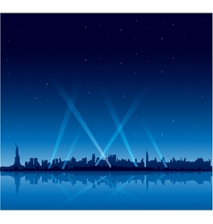 New York city at night copyspace background vector
