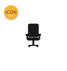 office chair icon isolated flat style vector image
