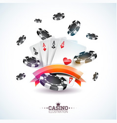 On a casino theme with poker vector