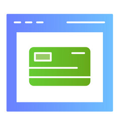 Online card registration flat icon web shopping vector