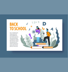 online education and knowledge landing web page vector image