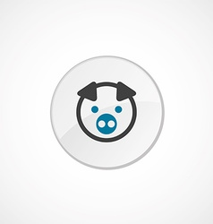 pig icon 2 colored vector image
