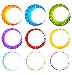 preloader buffer symbol elements circular vector image