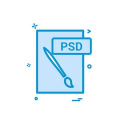 psd file format icon design vector image