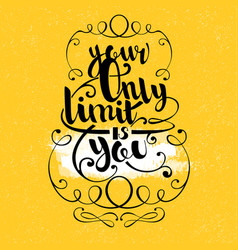 Quote hand drawn lettering vector