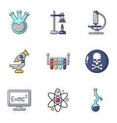 Scientific adviser icons set cartoon style vector