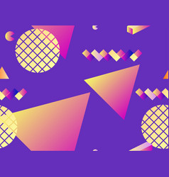 seamless pattern with geometric shapes and vector image