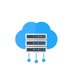 server hosting services vector image