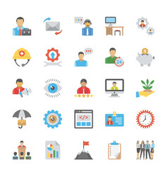 Set of human resource flat icons vector