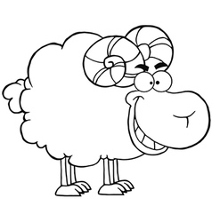 Sheep with horns vector image
