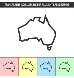 simple outline transparent australia continent vector image