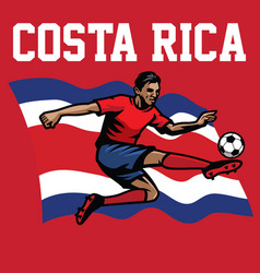 Soccer player of costa rica vector