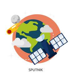 Space sputnik image vector