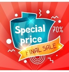 Special price sale banner advertising flyer for vector