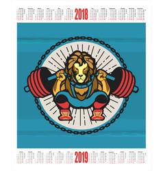 Sports calendar 2018 2019 vector