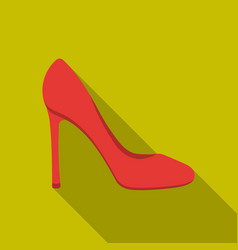 Stiletto icon in flat style isolated on white vector