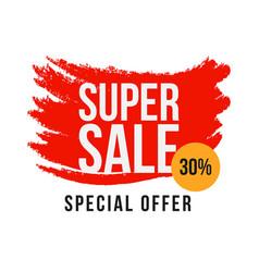Super sale 30 special offer template design vector