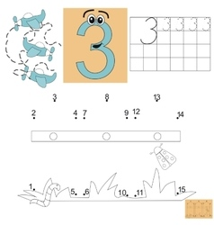 Task for children in mathematics Figure three vector image