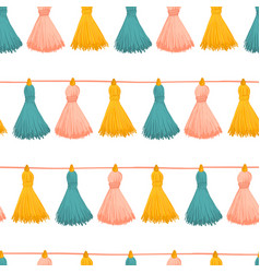 Tassels seamless background colorful vector