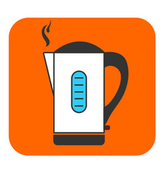 The electric kettle icon vector