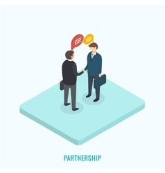 Two businessmen shaking hands vector image