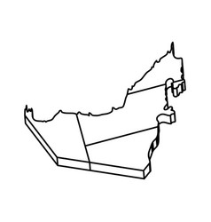 United arab emirates country silhouette vector