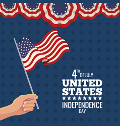 United states independence day celebration vector