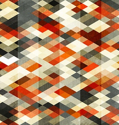 Vintage red rhombus seamless pattern vector