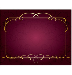 Violet background with beautiful golden frame vector