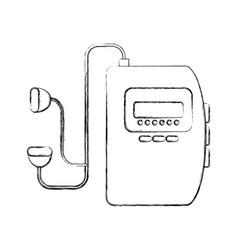 Walkman cassette player icon vector