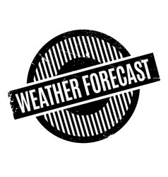 Weather forecast rubber stamp vector