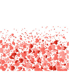 Wedding background with hearts vector