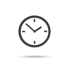 Clock icon sign symbol isolated vector image