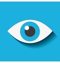 eye view security icon vector image vector image