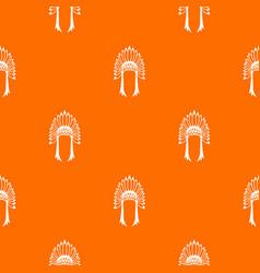 Indian headdress pattern seamless vector