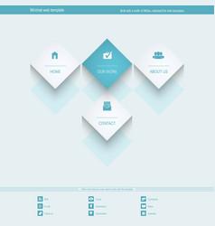 Minimal Web Template for corporate or portfolio vector image
