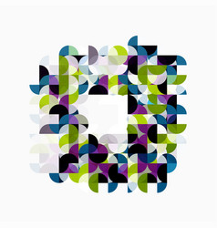 modern geometric abstract background circles on vector image