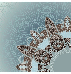 Ornamental round lace background in ethnic style vector image vector image