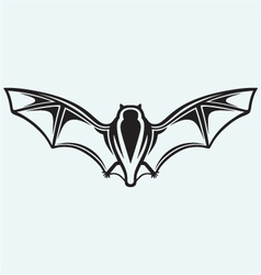 Silhouette of bat vector