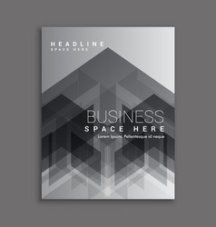 black abstract business magazine cover template vector image vector image