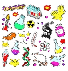 Chemistry decorative elements for stickers vector