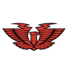 emblem eagle vector image