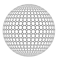 globe 3d sphere with ring mesh on the surface vector image vector image